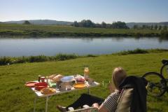 Frühstück an der Weser