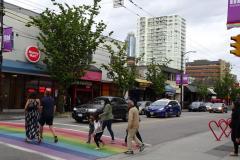 Rainbow Crosswalks - Davie Street