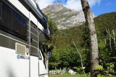 Campinplatz El Redondo - Blick auf die Picos