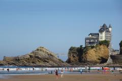 Biarritz - Strand und Villa Belza