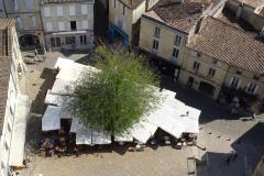 Saint-Émilion - Marktplatz von oben