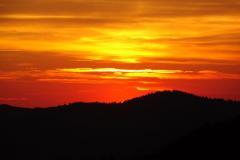 Vogesen - Sonnenuntergang am Markstein