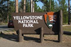 Yellowstone Nationalpark Eingang im Süden