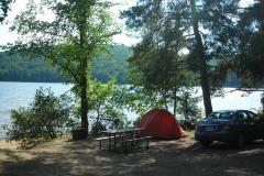 Zelten am See im Algonquin Provincial Park