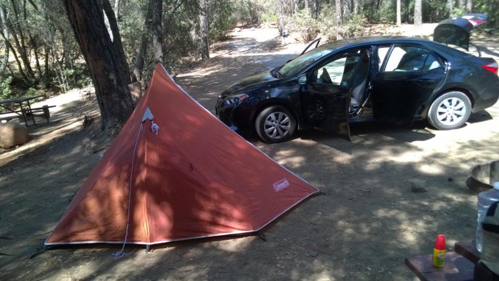 Unser Zelt im Yosemite Lakes RV Resort