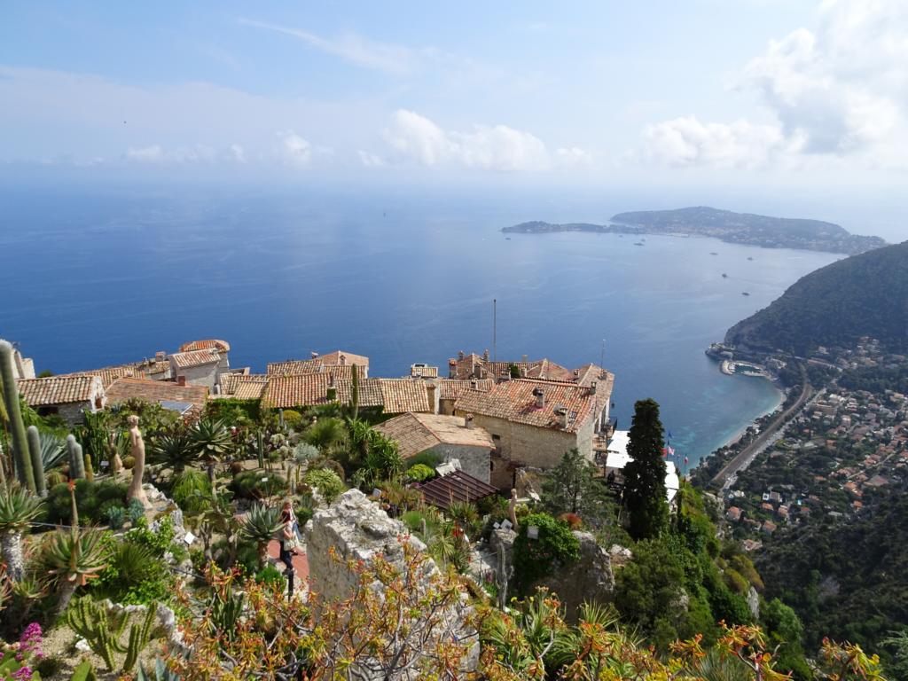 Road Trip Südfrankreich Italien - Èze Blick vom Botanischen Garten