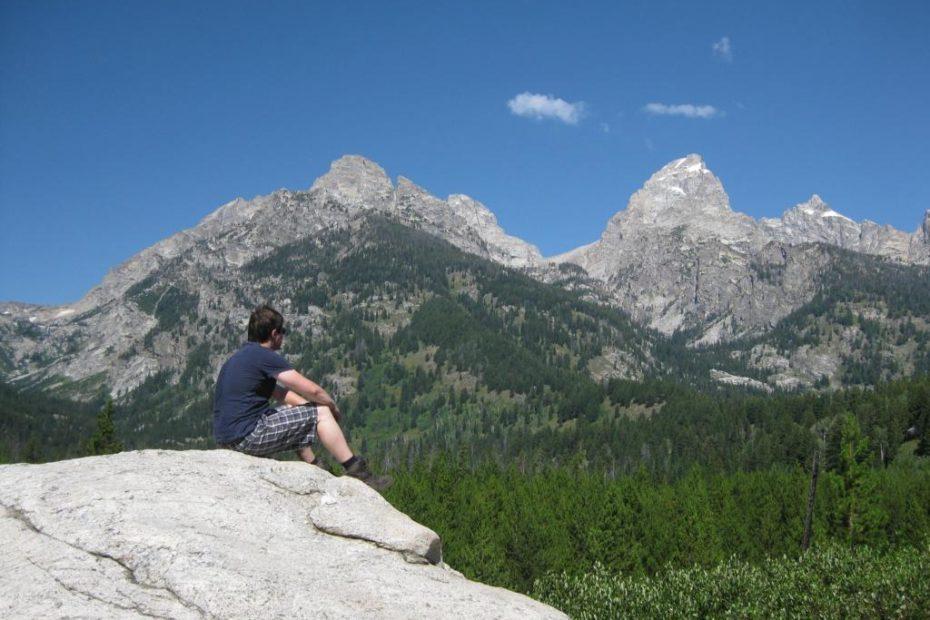 Grand Teton Nationalpark - Taggart Lake - Blick auf die Range