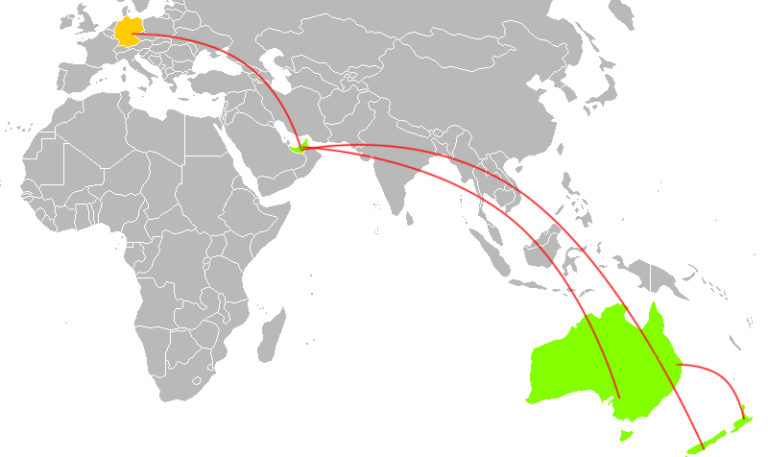 Reiseplanung Australien Neuseeland Dubai