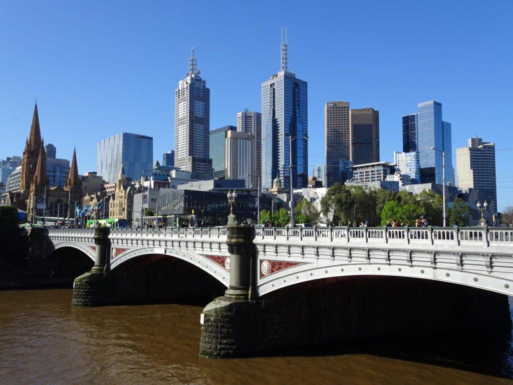 Melbourne - Blick von der Southbank Flusspromenade