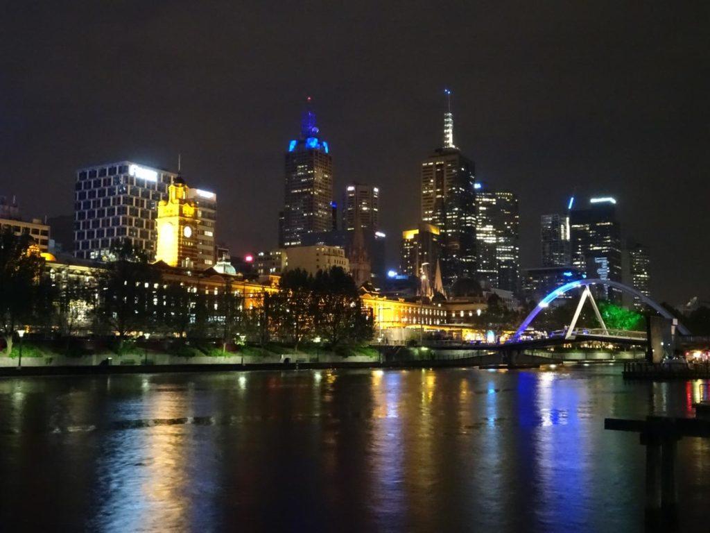 Melbourne - Skyline bei Nacht 2