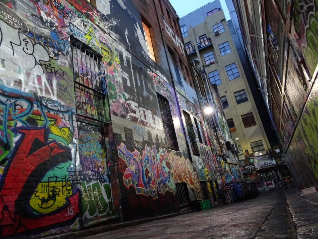 Melbourne - Graffiti Rutledge Lane
