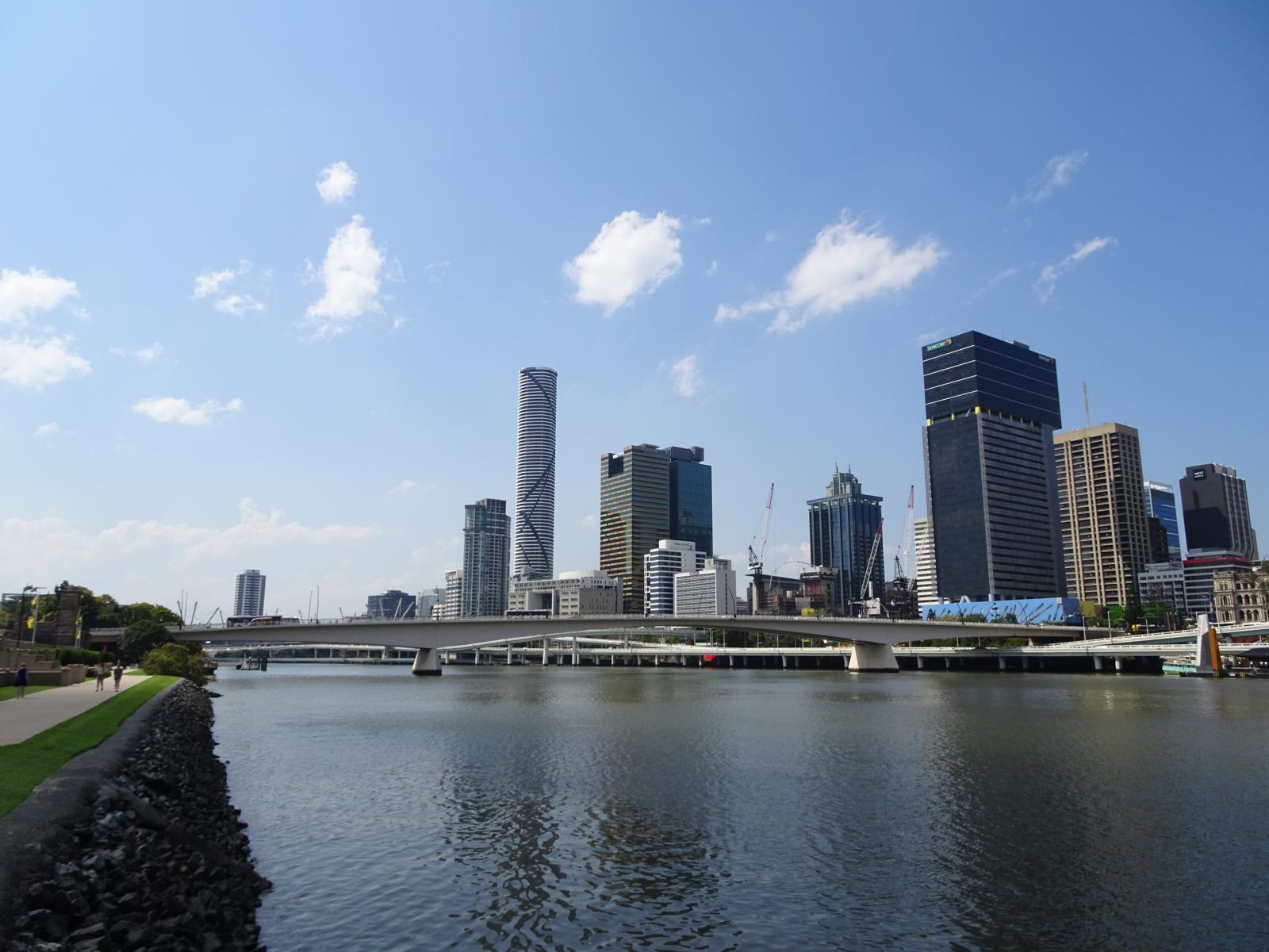 Drei Tage Brisbane - Skyline von South Banks aus