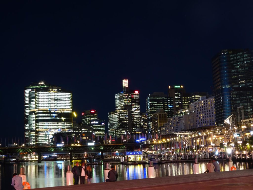 Sydney Reisetipps - Darling Harbour bei Nacht