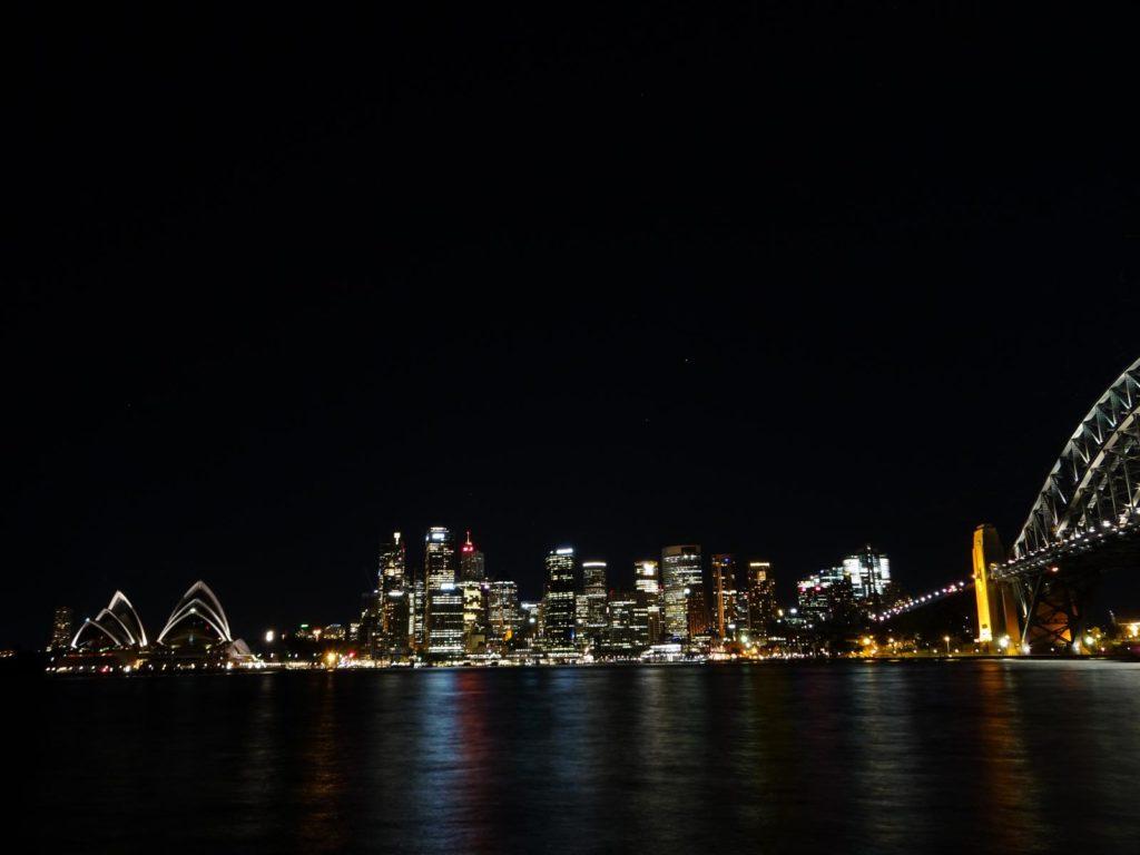 Sydney Harbour bei Nacht