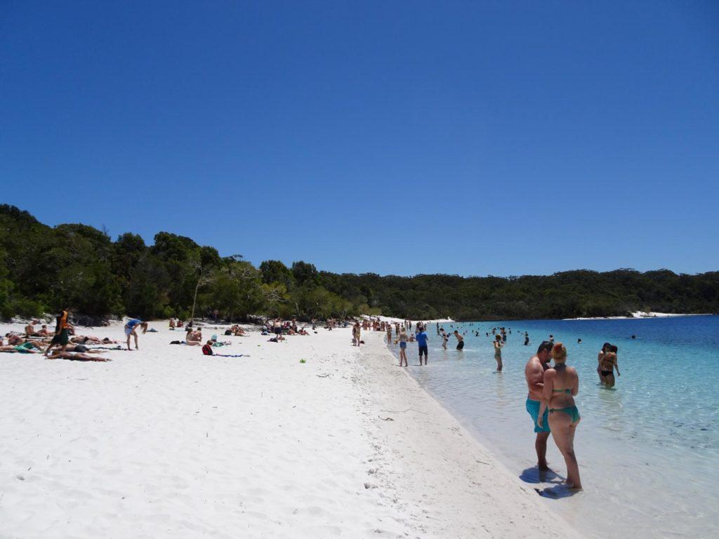 Fraser Island - Lake Mc Kenzie mit Besuchern