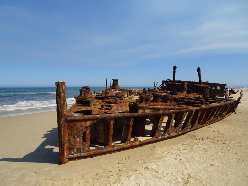 Fraser Island - Wrack der SS Meheno