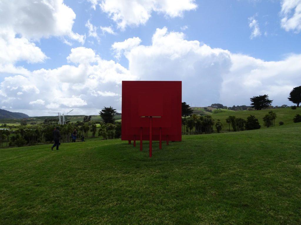 Gibbs Farm - Untitled (Red Square-Black Square) 1