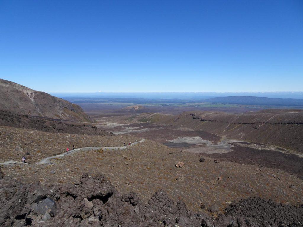 Tongariro Alpine Crossing - Blick zurück