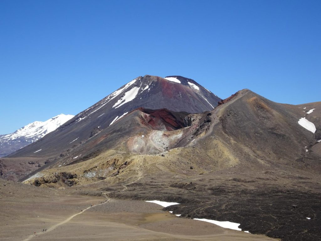 Tongariro Alpine Crossing - Blick zurück zum Red Crater und Mt. Ngauruhoe