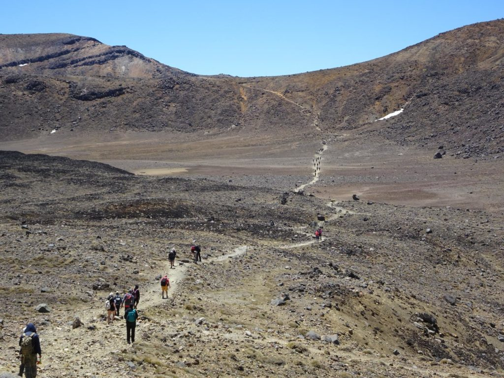 Tongariro Alpine Crossing - Der Weg zum Blue Lake