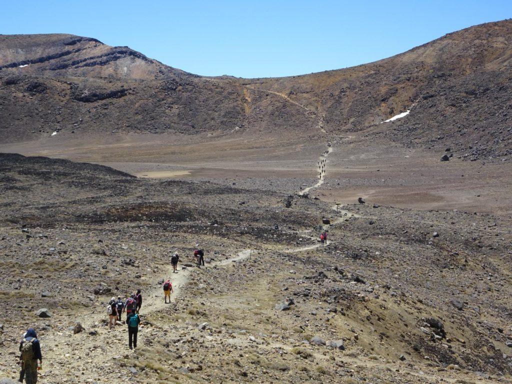 Tongariro Alpine Crossing - Der Weg zum Blue Lake