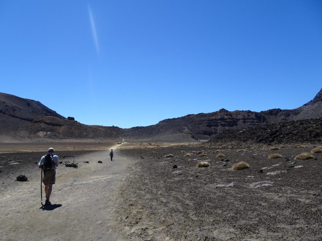 Tongariro Alpine Crossing - Weg durch den South Crater