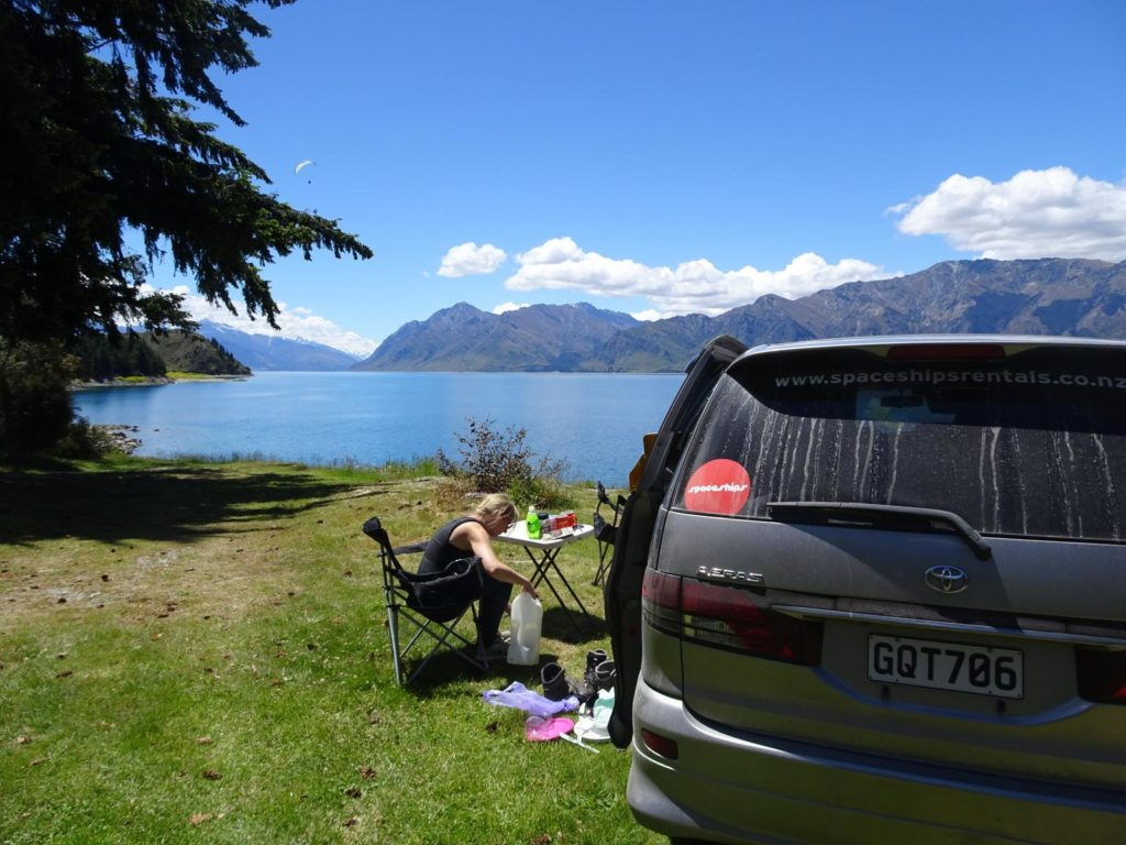 Camping am Lake Hawea