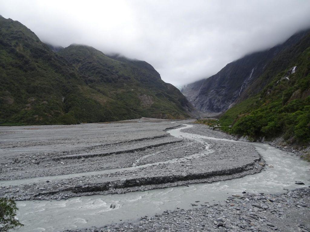 Der Franz Josef Gletscher ist mittlerweile weit zurück gegangen