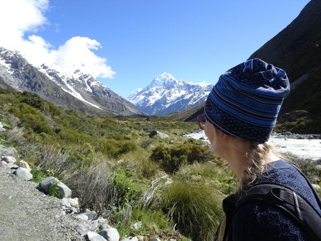 Wanderung im Hooker Valley