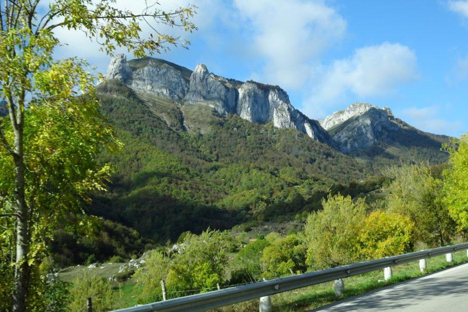 Picos de Europa - Erster Blick auf die Picos