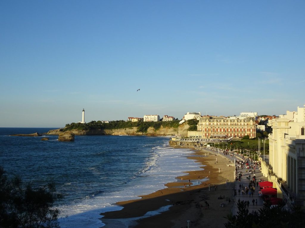 Biarritz Grande Plage und Leuchtturm