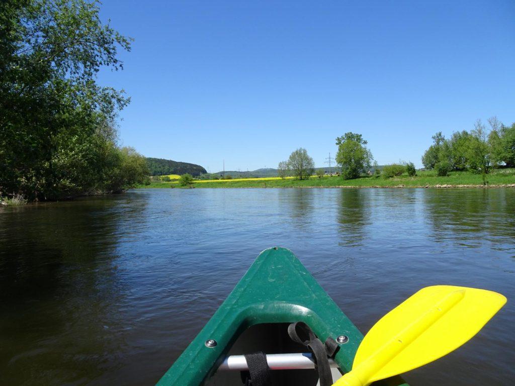 Mit dem Kanu auf der Weser