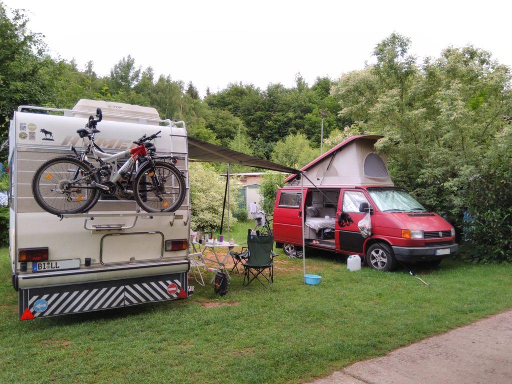 Unser Stellplatz auf dem Campingpark Eisenach