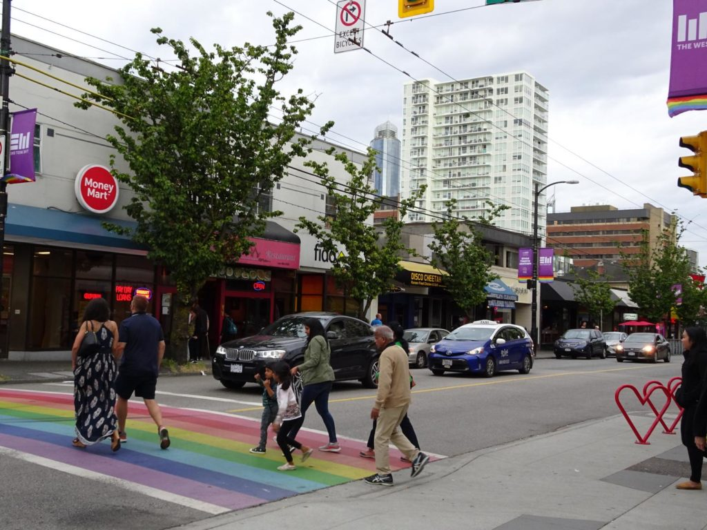 Rainbow Crosswalks - Davie Street