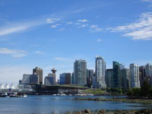 Vancouver Skyline - Blick von der Vancouver Seawall am Stanleypark